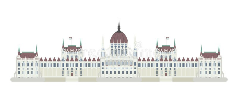 budapest-parliament-hungary-vector-illustration-isolated-white-background-89579063
